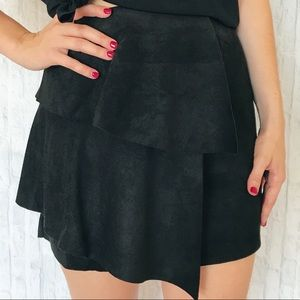 Lush black suede mini skirt NEW : Size Small